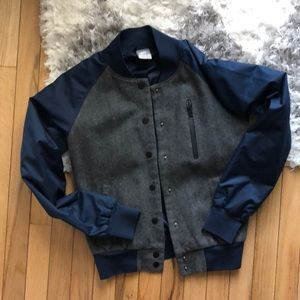 Nike wool bomber jacket with snaps